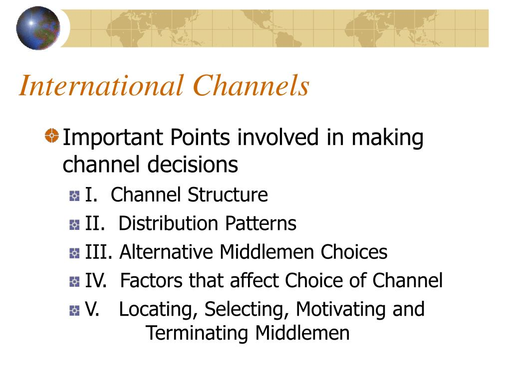 International Channels