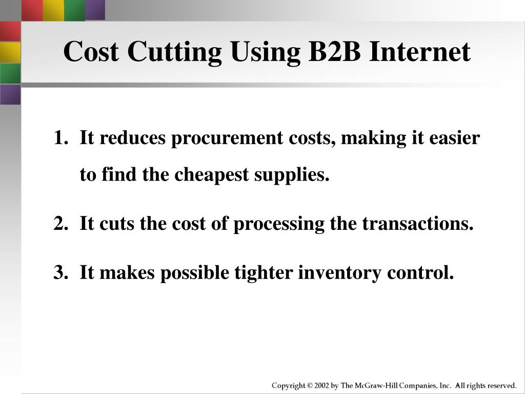 Cost Cutting Using B2B Internet