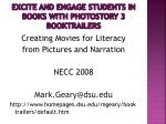 excite and engage students in books with photostory 3 booktrailers