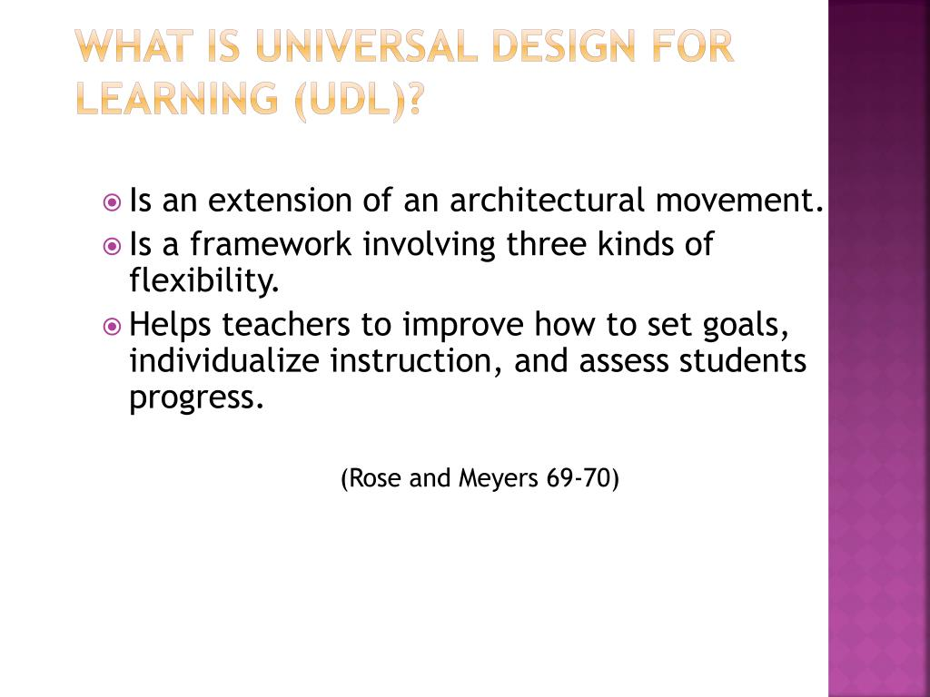 What is Universal Design for Learning (UDL)?