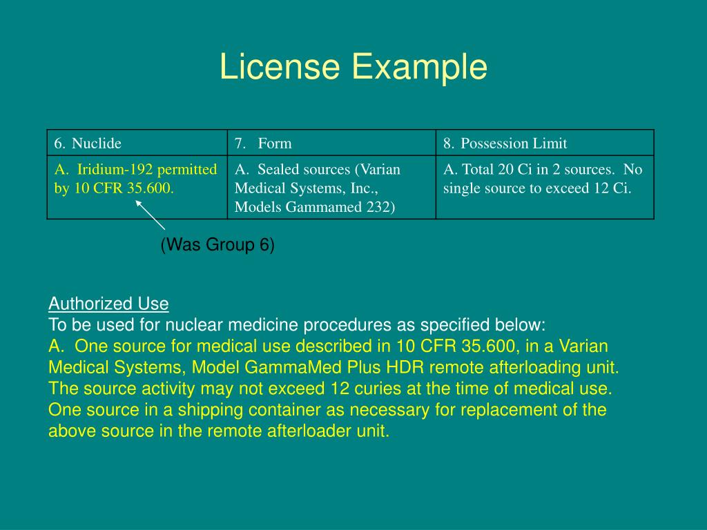 License Example