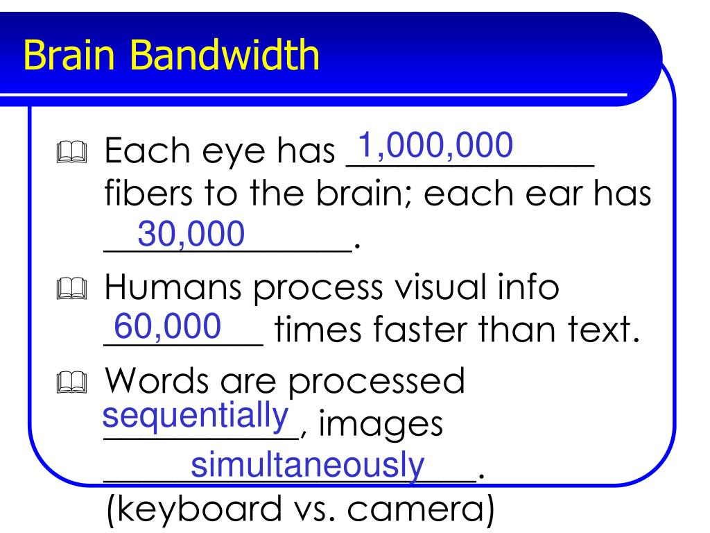 Brain Bandwidth