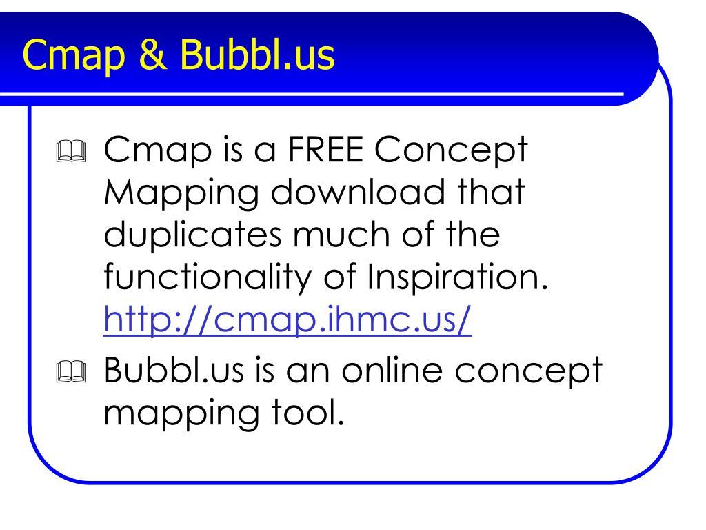 Cmap & Bubbl.us