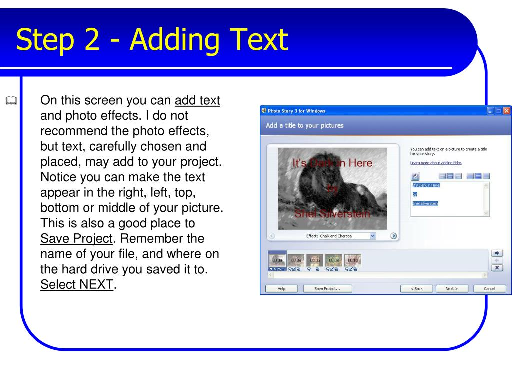 Step 2 - Adding Text