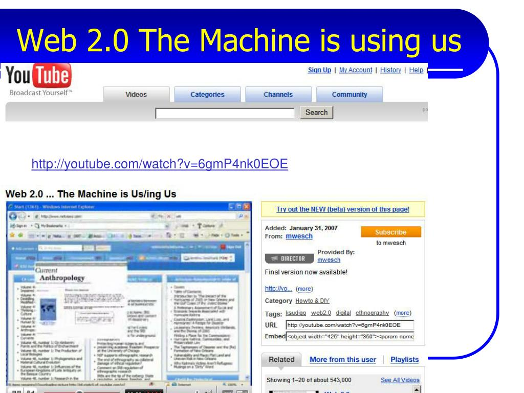 Web 2.0 The Machine is using us
