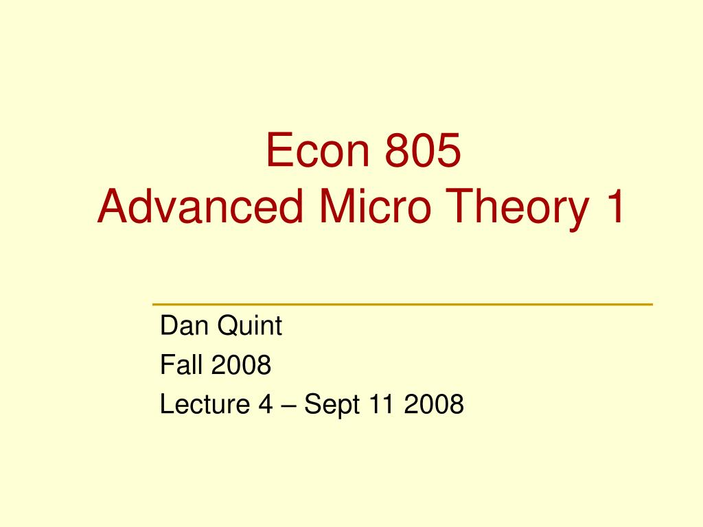 Econ 805