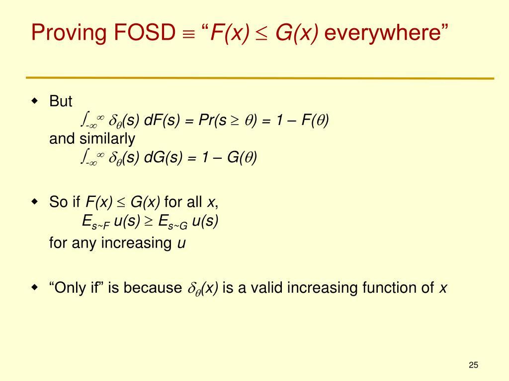 Proving FOSD