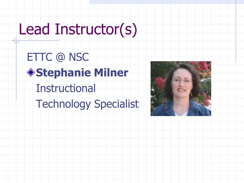 Lead Instructor(s)
