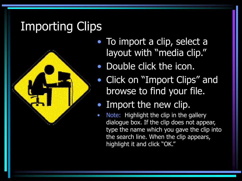 Importing Clips