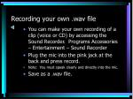 recording your own wav file
