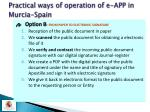 practical ways of operation of e app in murcia spain10