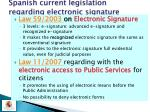 spanish current legislation regarding electronic signature