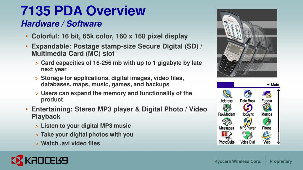 7135 PDA Overview