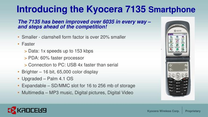 Introducing the kyocera 7135 smartphone