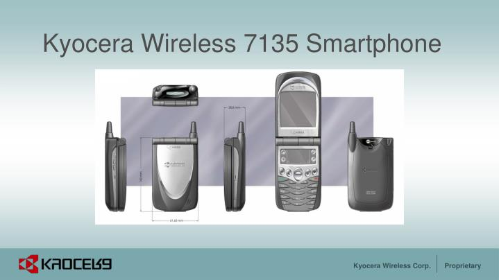 Kyocera wireless 7135 smartphone
