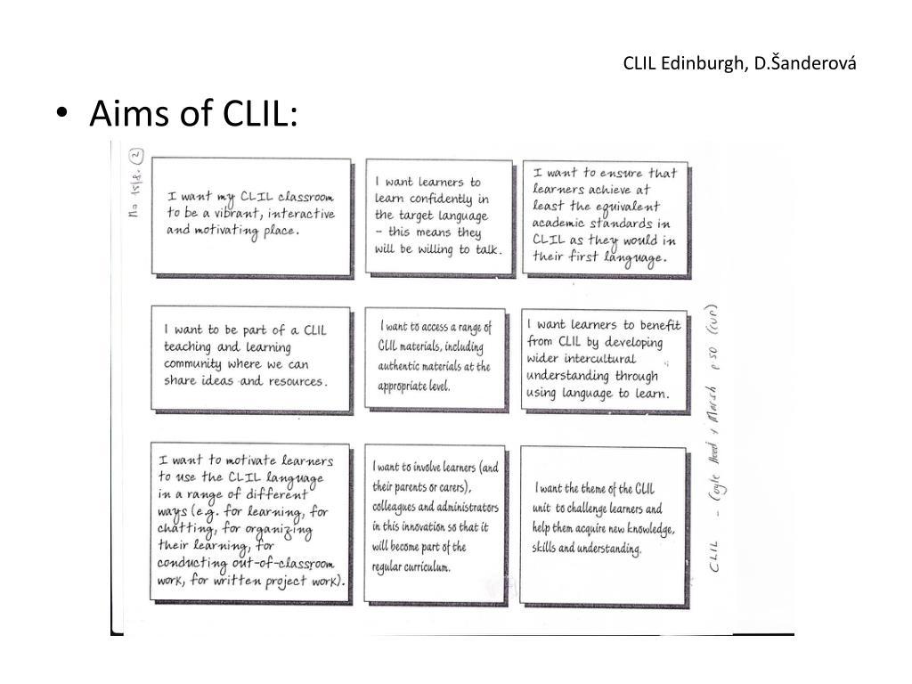 CLIL Edinburgh, D.Šanderová
