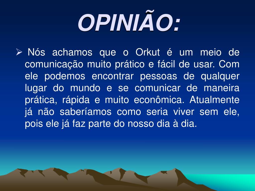 OPINIÃO: