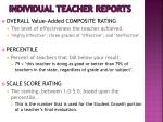 individual teacher reports78