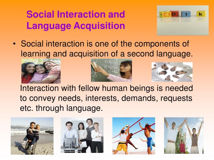 Social interaction and language acquisition
