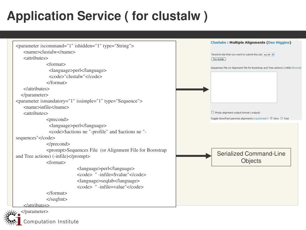 Application Service ( for clustalw )