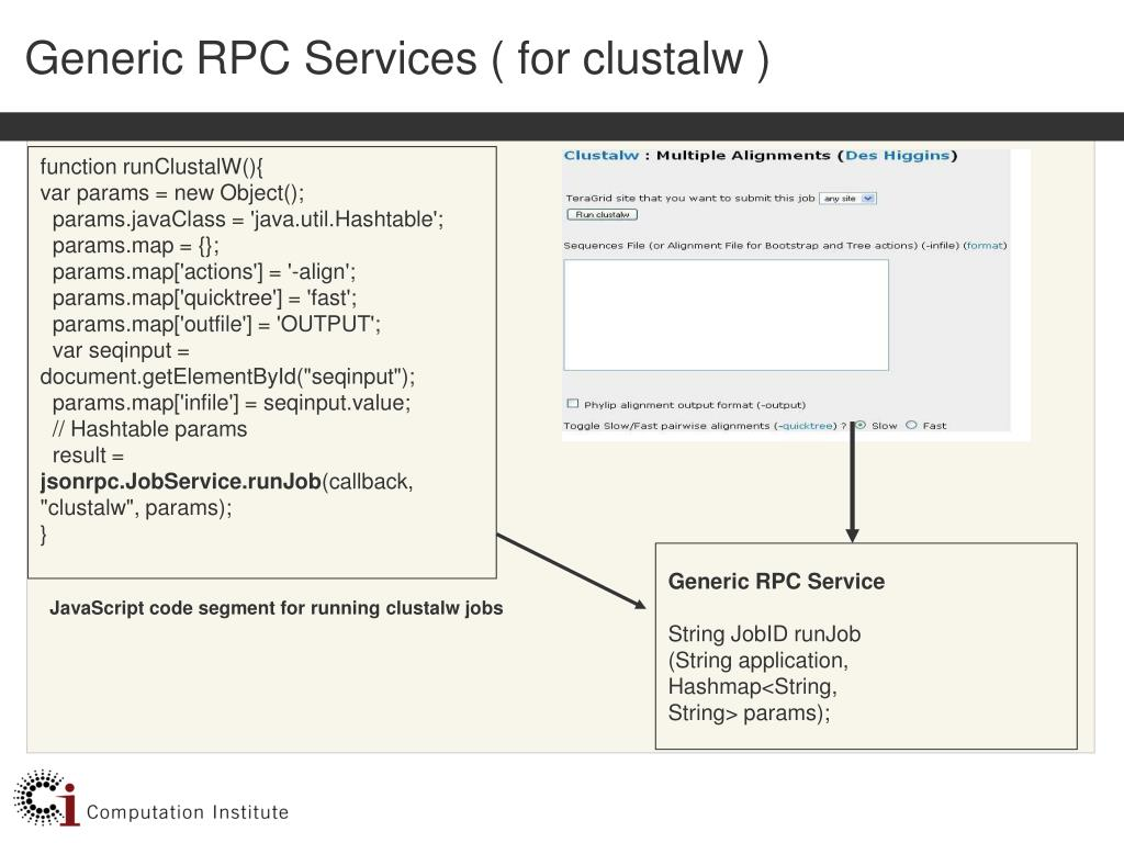 Generic RPC Services ( for clustalw )