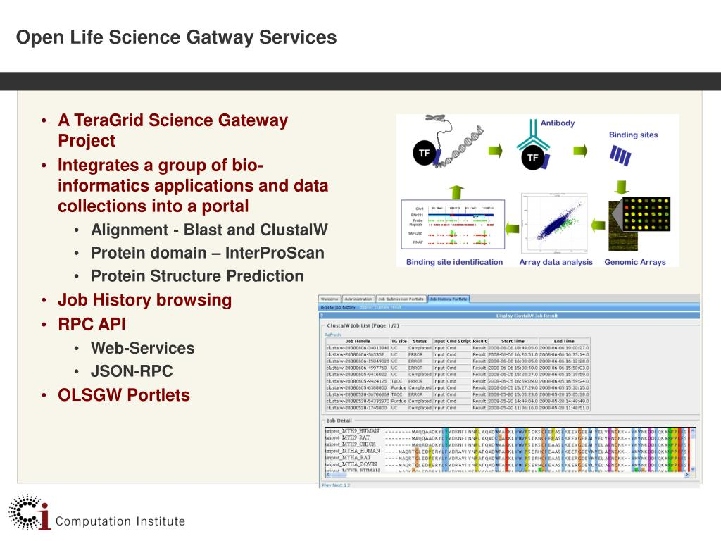 Open Life Science Gatway Services