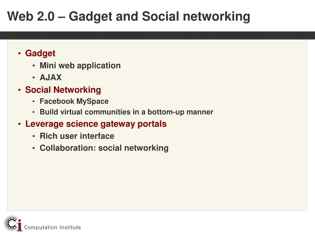 Web 2.0 – Gadget and Social networking