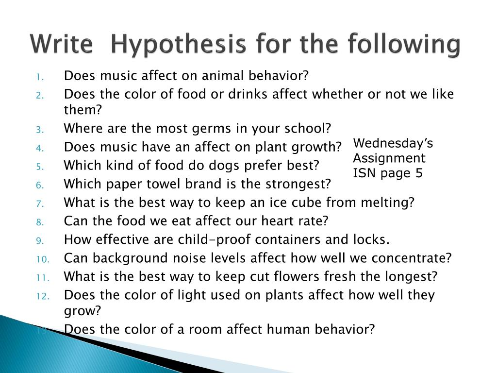 how to write a hypothesis for a science fair project How to create a science fair project about your project as well write some note cards with key org/science-fair-projects/project_hypothesis.