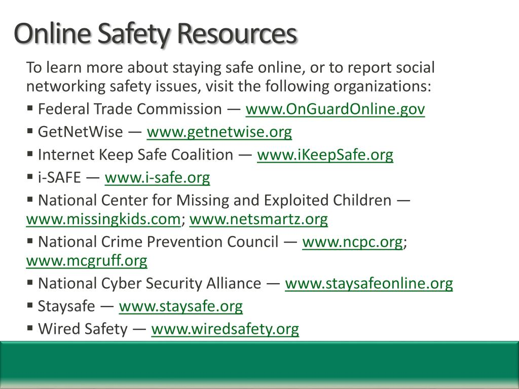 Online Safety Resources