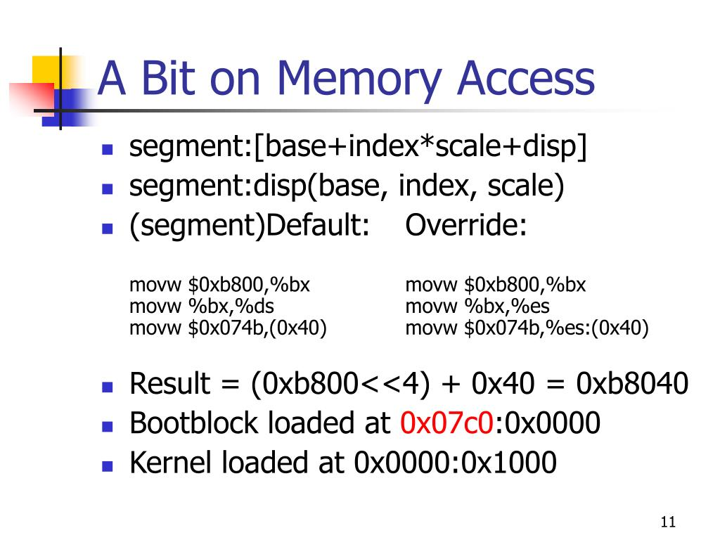 A Bit on Memory Access