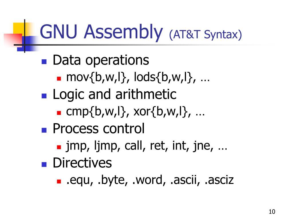 GNU Assembly