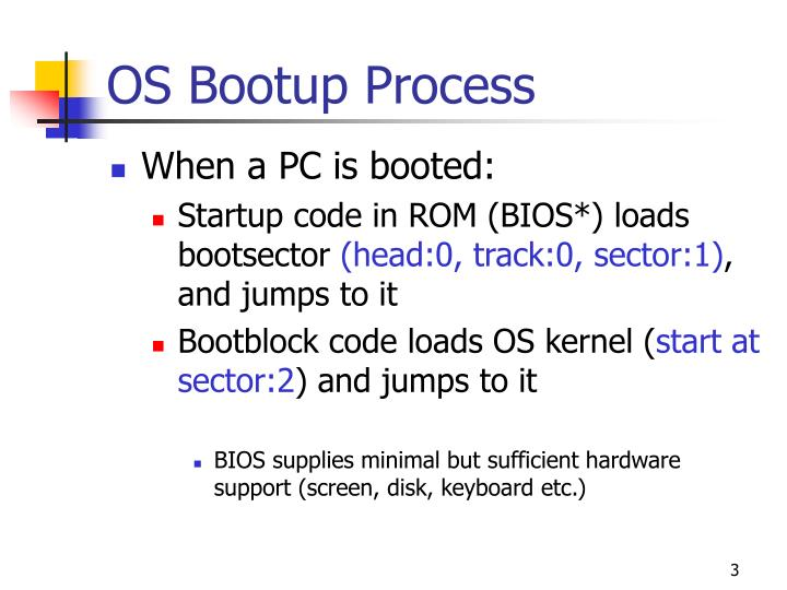 Os bootup process