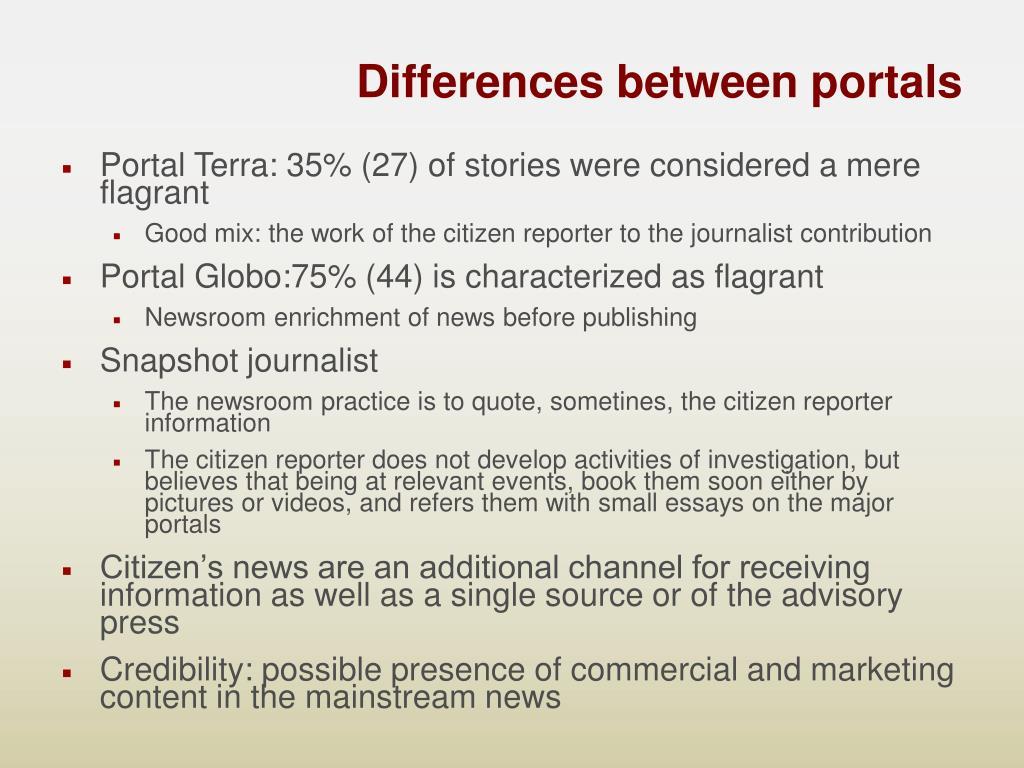 Differences between portals