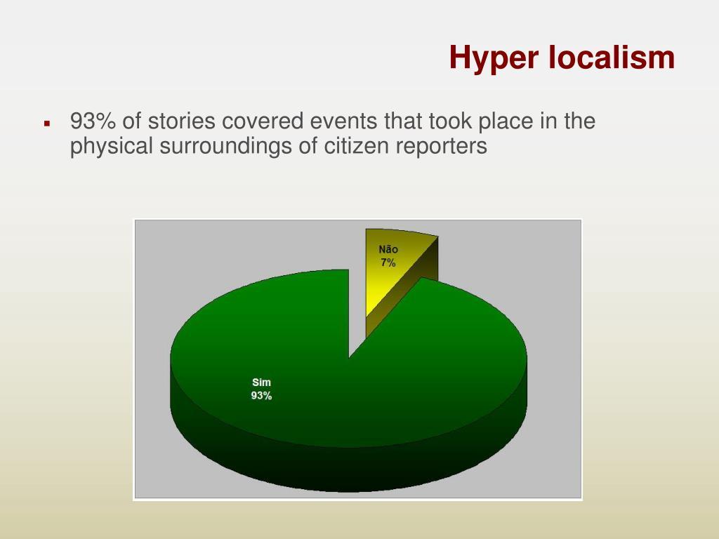 Hyper localism