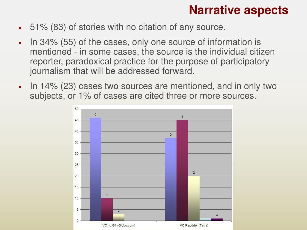 Narrative aspects