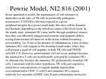 powrie model ni2 816 2001