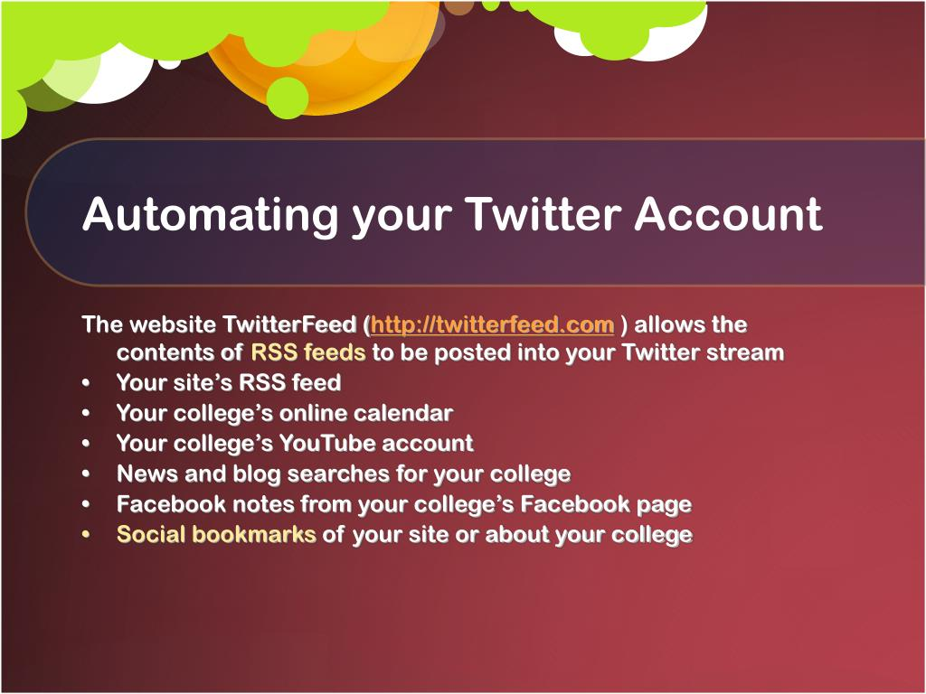 Automating your Twitter Account