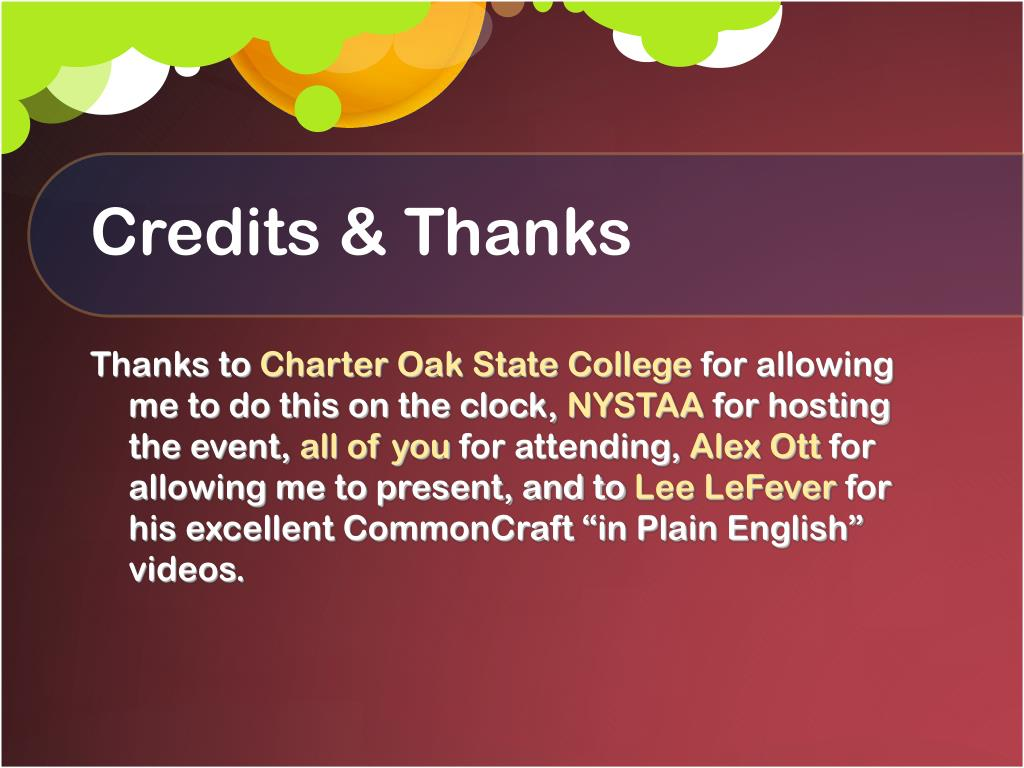 Credits & Thanks