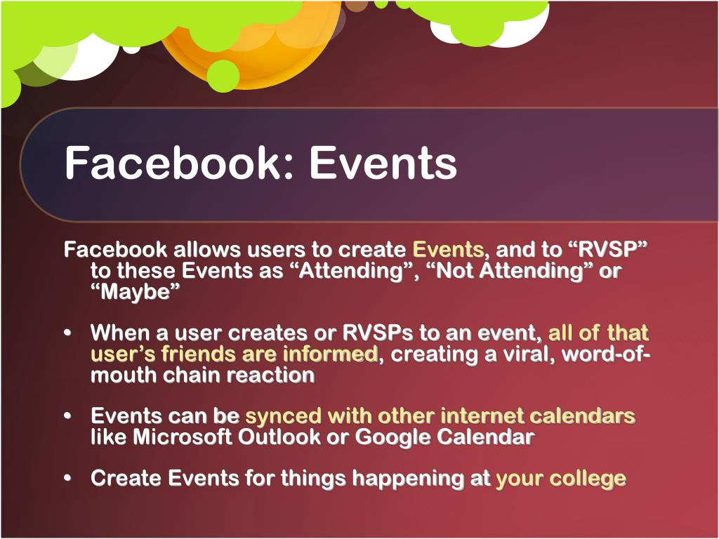 Facebook: Events