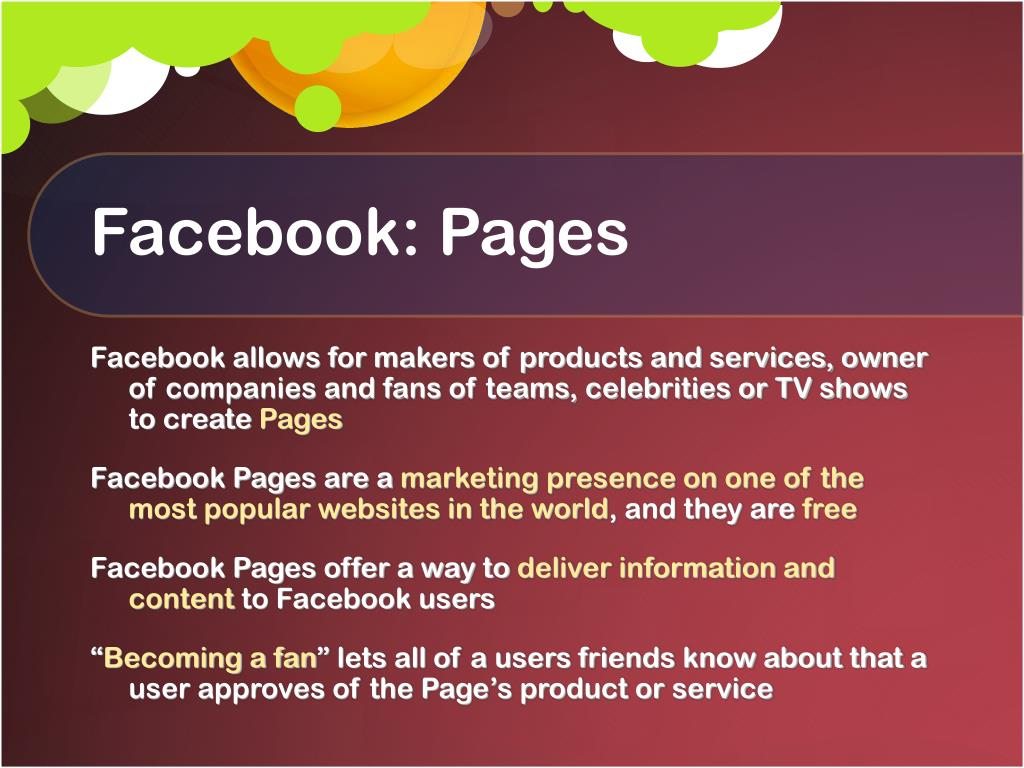 Facebook: Pages
