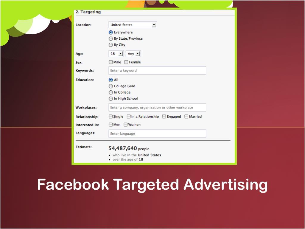 Facebook Targeted Advertising