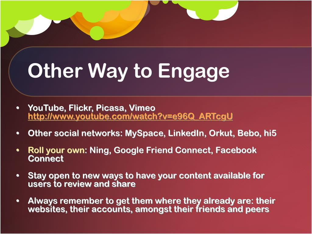 Other Way to Engage