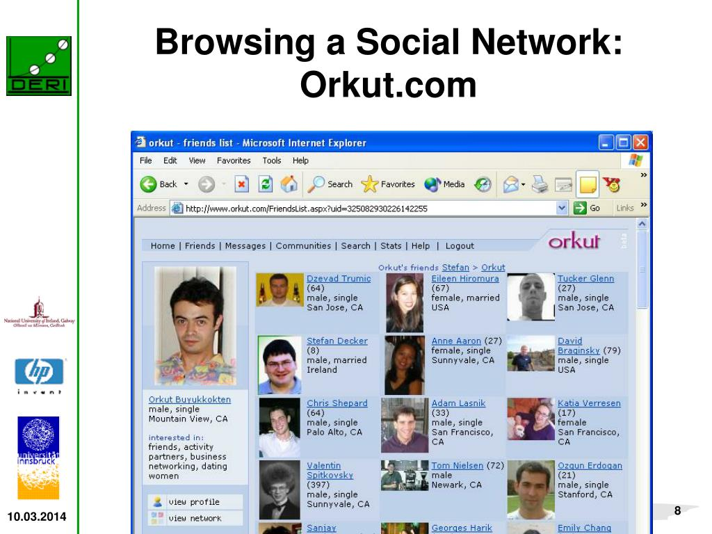 Browsing a Social Network: Orkut.com
