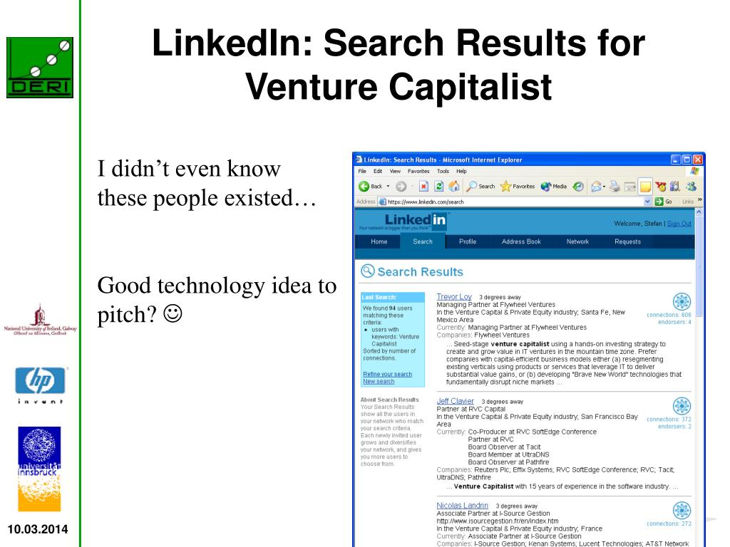 LinkedIn: Search Results for Venture Capitalist