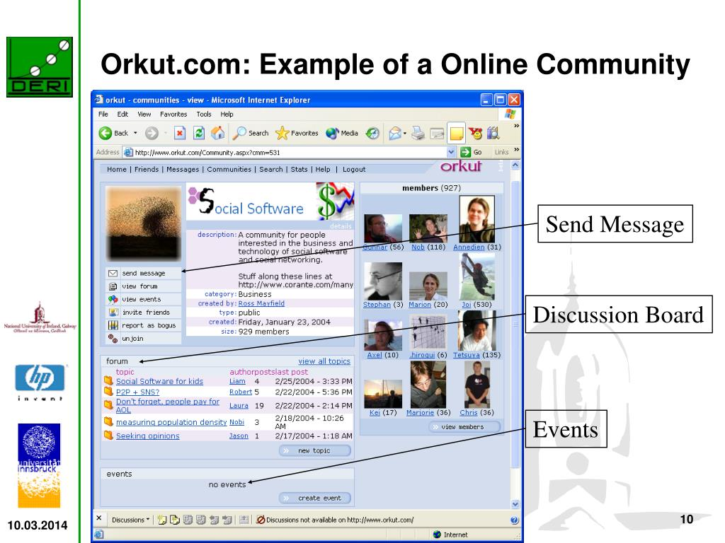 Orkut.com: Example of a Online Community