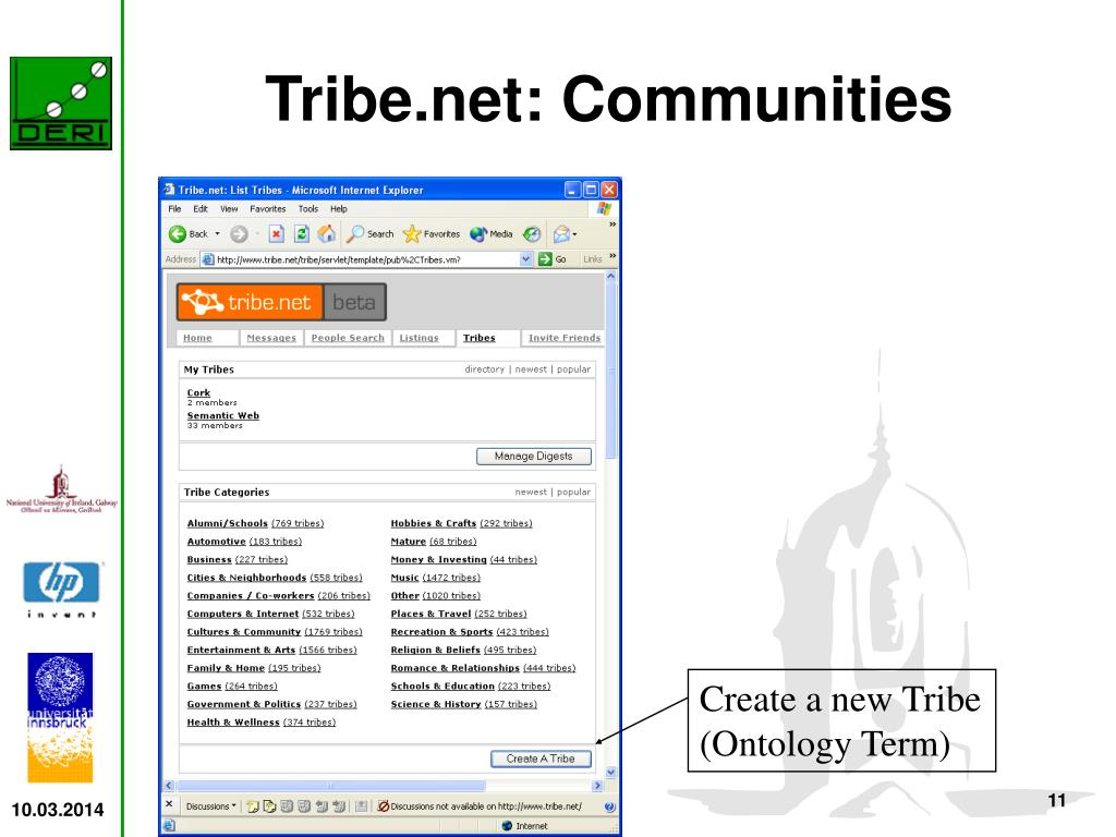 Tribe.net: Communities
