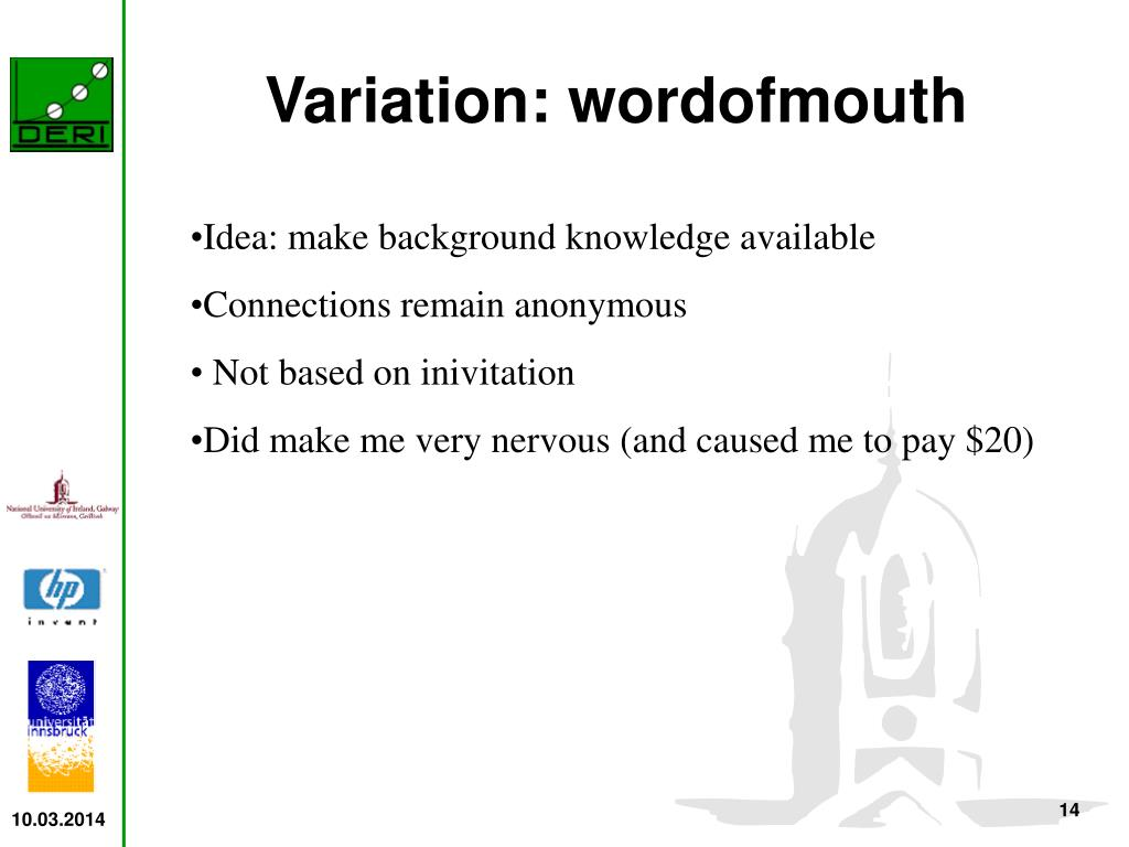 Variation: wordofmouth