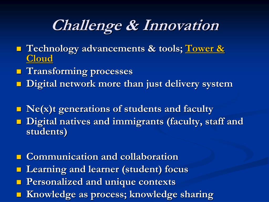 Challenge & Innovation