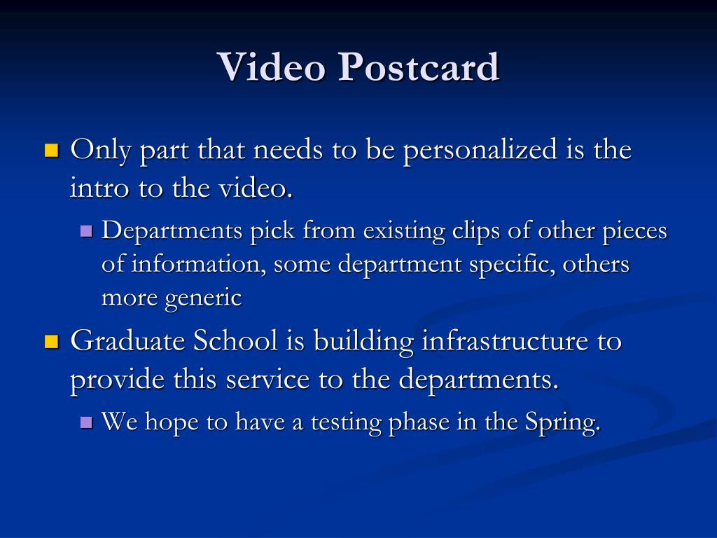 Video Postcard
