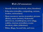web 2 0 resources